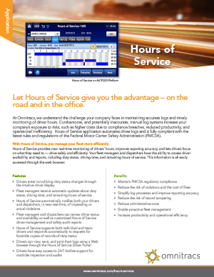 thumbnail image for hours of service brochure